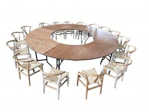 Wooden Wishbone Chair and Tables