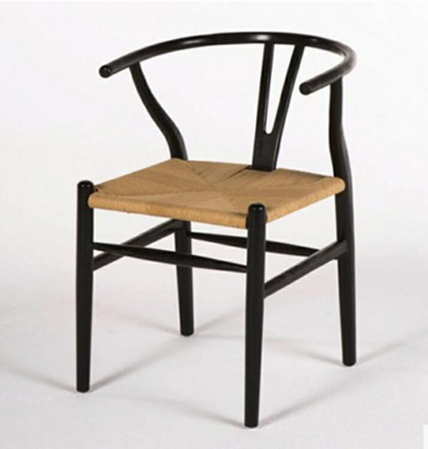 Wishbone Wooden Chair Black